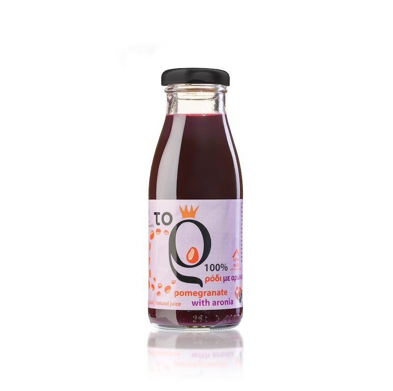 Φυσικός χυμός ρόδι σε συνδυασμό με φυσικό χυμό αρώνια